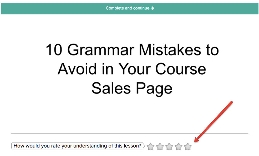 Example Adding a Rating Widget to Teachable