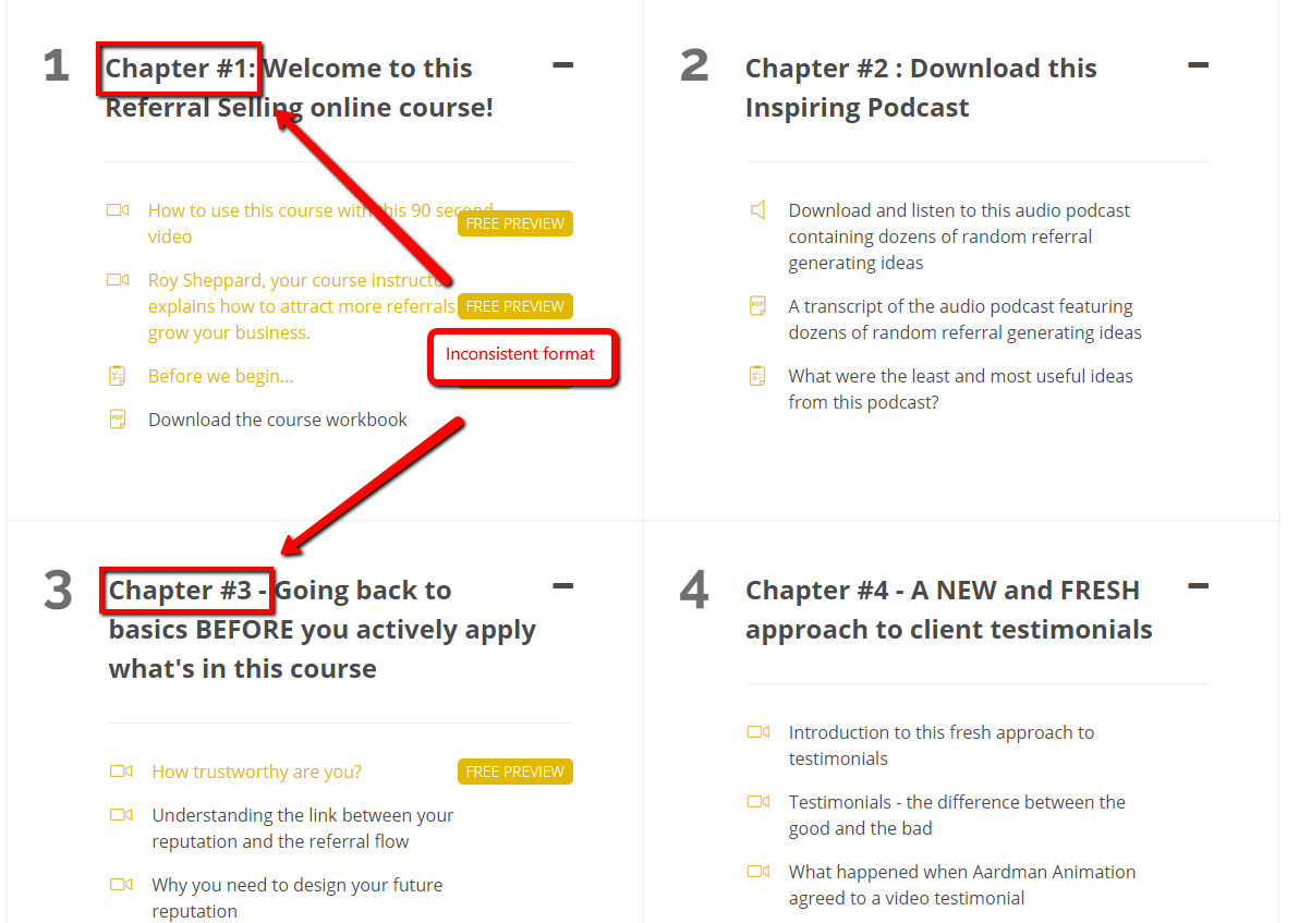 Inconsistent_Headline_Structure_in_a_Course_Sales_Page